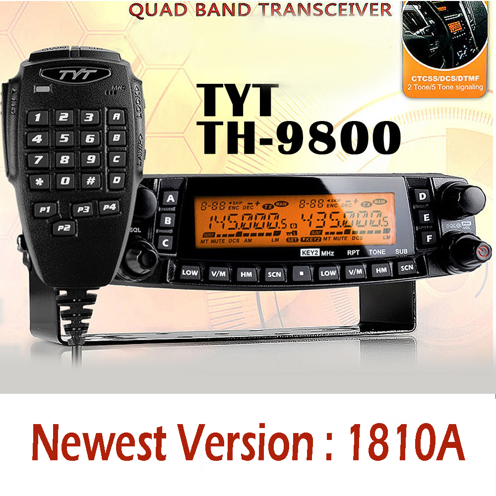 TYT TH-9800 Pro 50W 809CH  1801A Dual Display Repeater Scrambler VHF UHF Transceiver Car Truck Vehicle Two Way Radio
