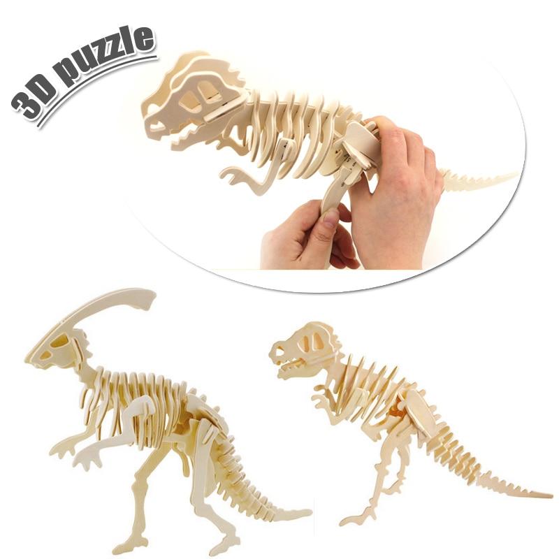 3d трехмерные деревянные животных пазл игрушки для детей поделки ручной работы деревянные пазлы Животные насекомых серии