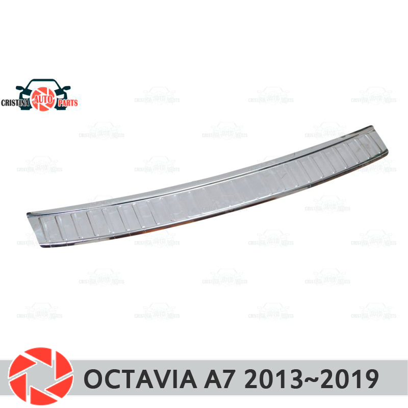 Plate Cover Rear Bumper For Skoda Octavia A7 2013~2018 Protection Plate Car Styling Decoration Accessories Molding Stamp