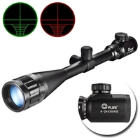 CVLIFE Optics Hunting Rifle Scope 6 24x50 AOE Red Green Illuminated Crosshair Gun Scopes With Free