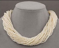 2017 New Design 12 strands charming south sea white pearl necklace 18 inch >>>Free shipping