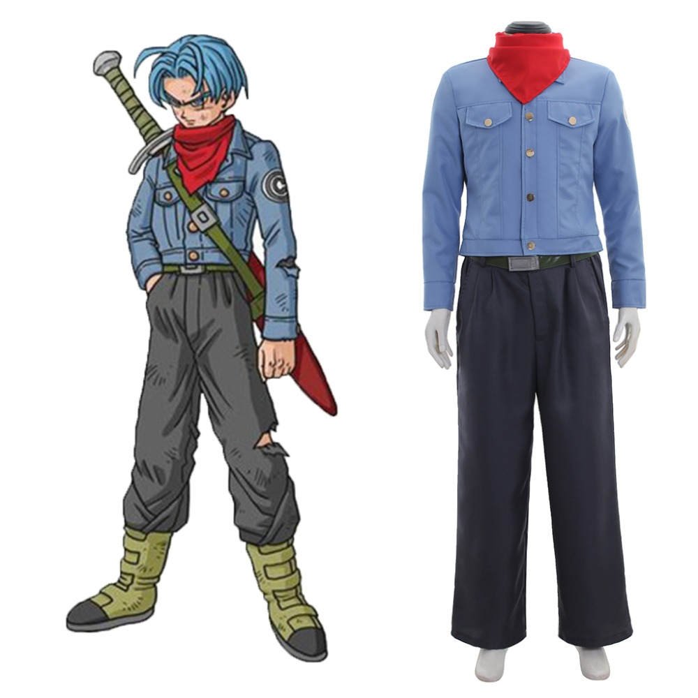 Anime Dragonball Z Dragon Ball Super Future Torankusu Trunks Cosplay Costume Adult Men Outfit Halloween Costume Custom Made