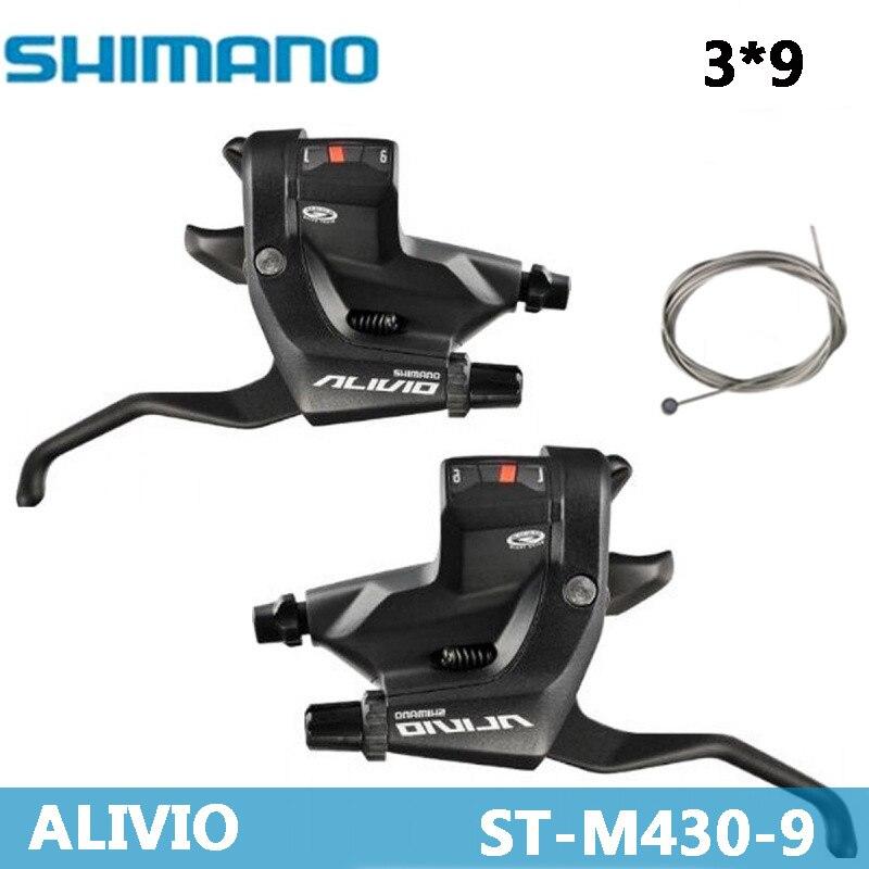 SHIMANO ALIVIO VTT Montagne vélo shifter ST-M430 levier de changement de Vitesse 3*9 poignée de Commande raccord De Bicyclette DIP Vélo dérailleur