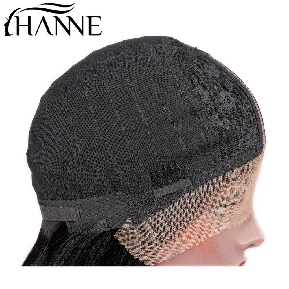 HANNE Lace Front Human Wig Rambut Hitam Wanita Natural Hitam Pra - Pasokan kecantikan - Foto 5