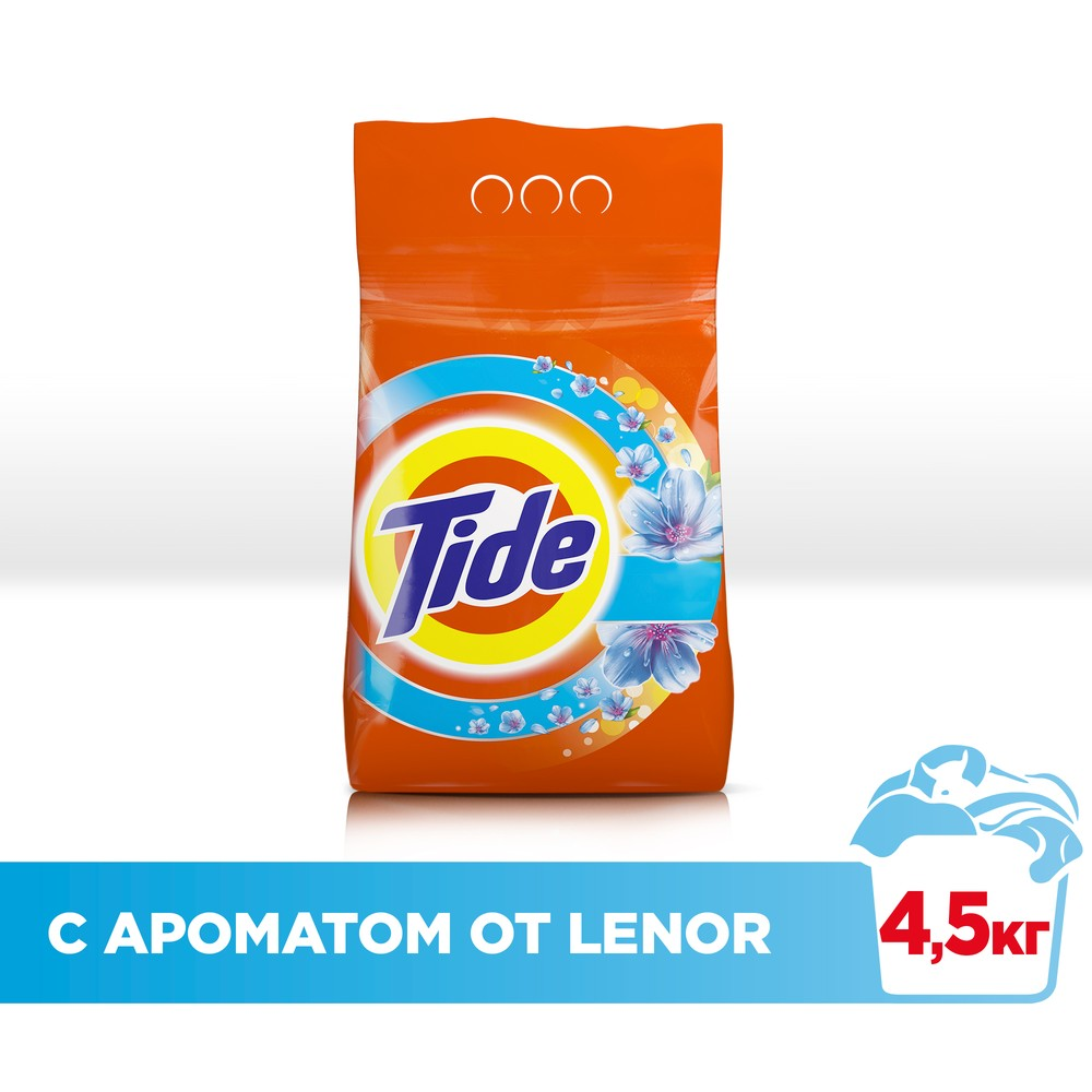 Laundry detergent Tide Automatic 2in1 Lenor effect of 30 washes 4.5 kg.