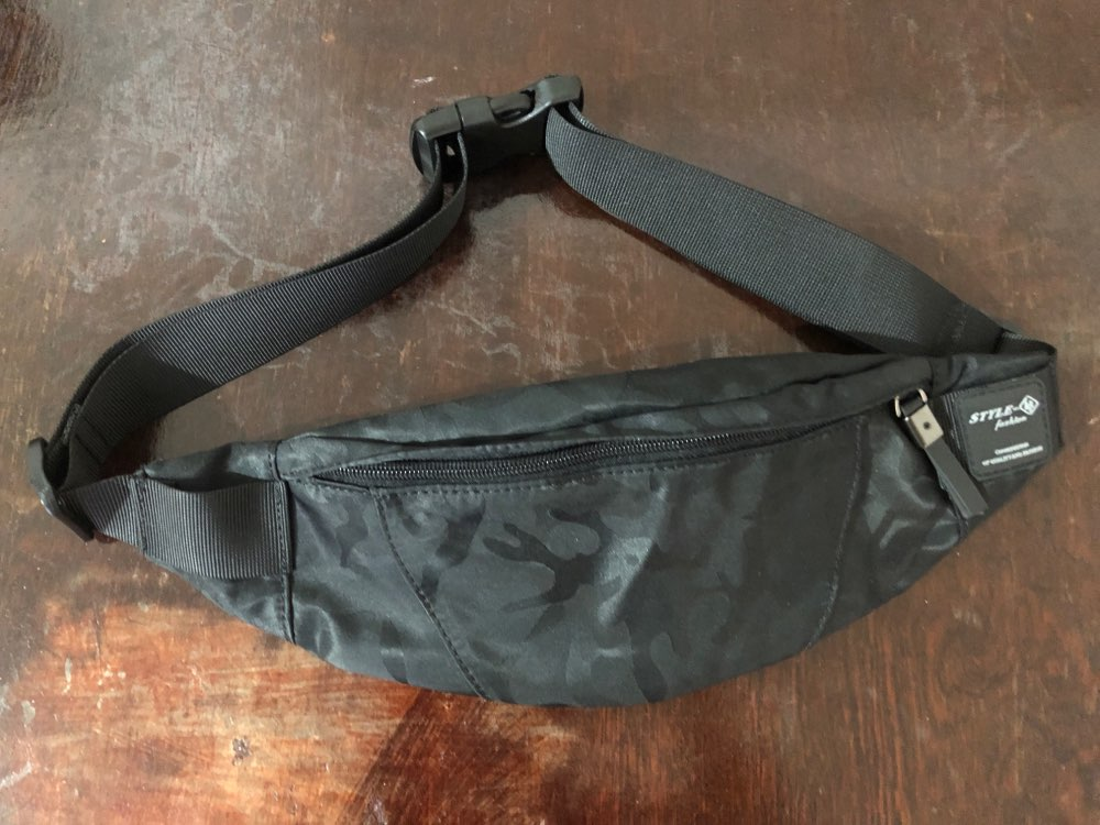 Hk Men Male Casual Fanny Bag Waist Bag Money Phone Belt Bag Pouch Camouflage Black Gray Bum Hip Bag Shoulder belt pack photo review