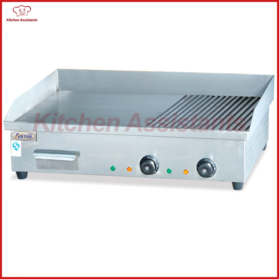 все цены на EG822 counter top electric griddle grill machine with grooved онлайн