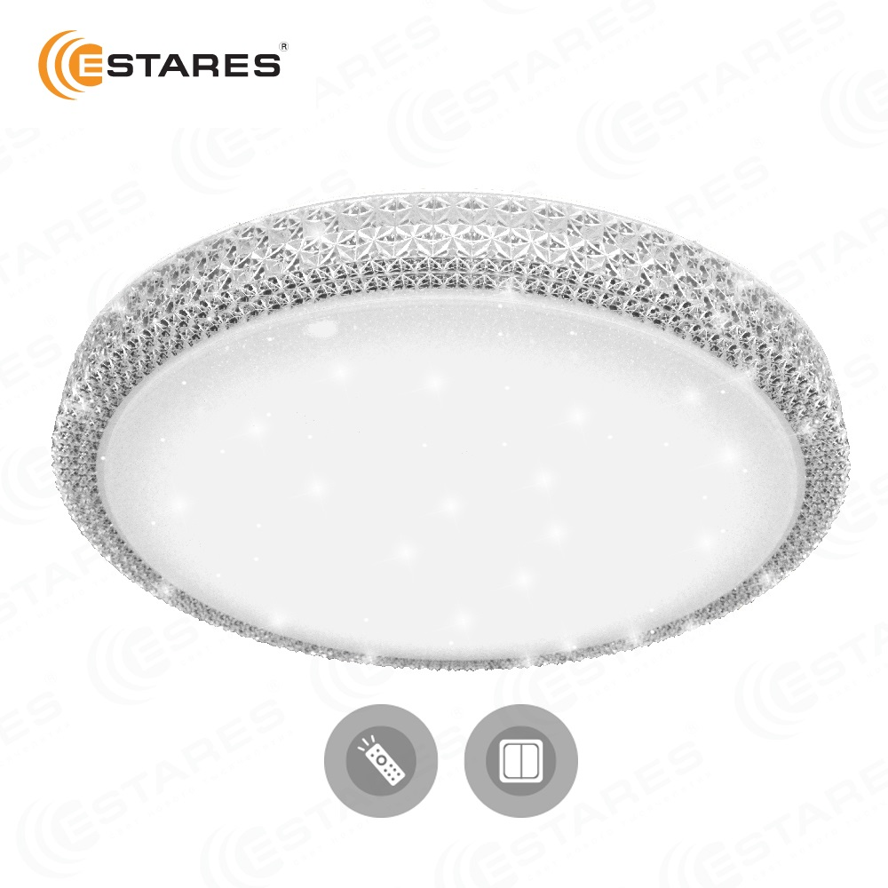 ESTARES Controlled LED lamp Ceiling Light PLUTON 60W SHINY-220V-IP44 цена