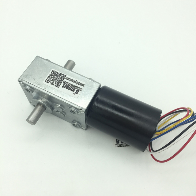 US $32 48 29% OFF|Double Shafts electric motor 12v BLDC Motor 8 470RPM 2 5  60KG CM 24V Worm Gear Motor With CW/CCW Adjustable Speed Self Lock-in DC