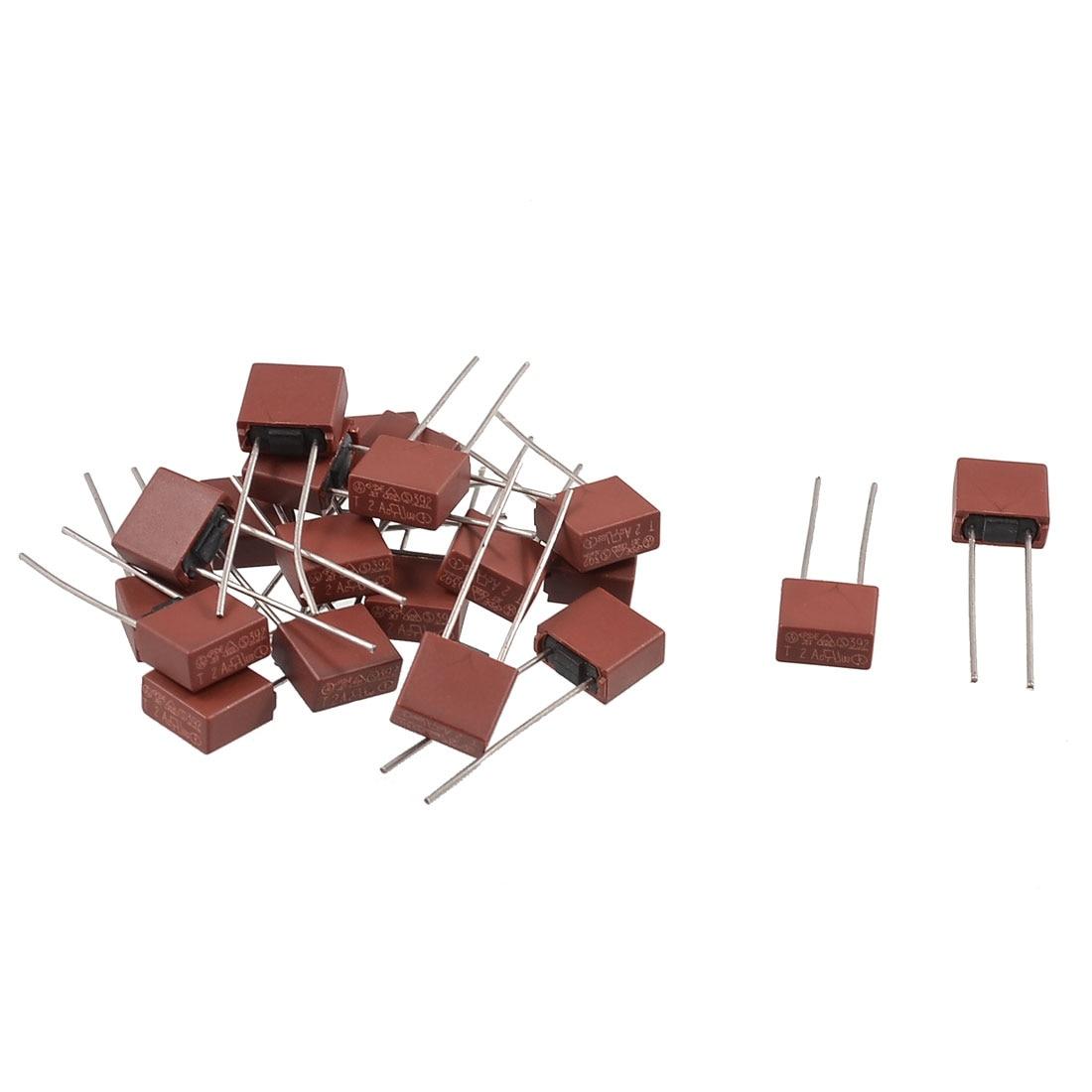 Uxcell 20 шт. 250 В квадратный Тип радиальные приводит миниатюрный Slow Blow Micro предохранитель 0.25a   0.5a   15A   1A   2A   3A   4A   5A   6a