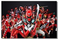 Custom Canvas Wall Murals Power Rangers Poster Power Rangers Super Megaforce Wallpaper Kids Room Wall Sticker