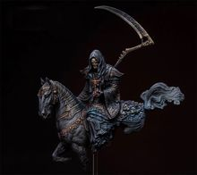 1:20 90mm Resin Figure Model Kit The spirit of the dead(With a horse) Unassambled  Unpainted