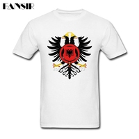 Hip Hop Tshirts Male Custom Cotton Short Sleeve Royal Coat Of Arms Of Albania Team Tops