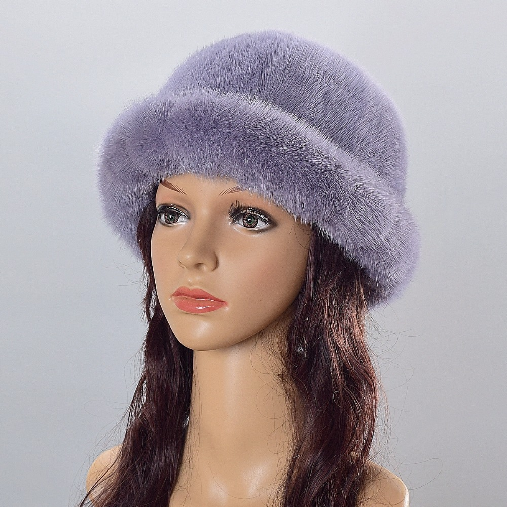 Real mink fur hat knitted hat for winter women beanie fur skullies beanies 100% Natural Genuine fur caps thick warm beanie beanie cartoon animal hat white kitty pink bow hat children caps skullies