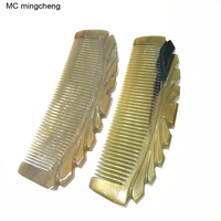 MC Brand New Pure Ox Horn Comb Yas Anti static Hair Comb Hairdressing Massage Comb Wholesale