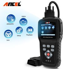 Ancel AD610 OBD2 Diagnostic Scanner Auto OBD Diagnostic Tool Airbag ABS SAS Code Scanner Multi Language
