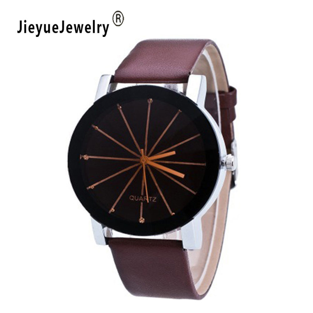Splendid Watches Men Women Luxury Top Brand Quartz Dial Clock Leather Round Casual Wrist Watch Relogio Masculino Gift for Lovers splendid brand new boys girls students time clock electronic digital lcd wrist sport watch
