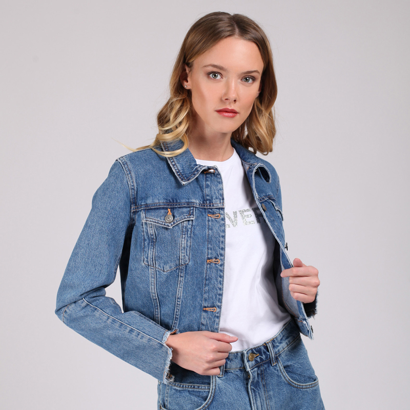 Jeans jacket tom farr T W2900.35 for women top for women tom farr t w1508 33