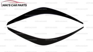 Image 4 - Augenbrauen auf scheinwerfer für Hyundai Solaris 2017 modell B breite ABS kunststoff zilien wimpern form dekoration auto styling tuning