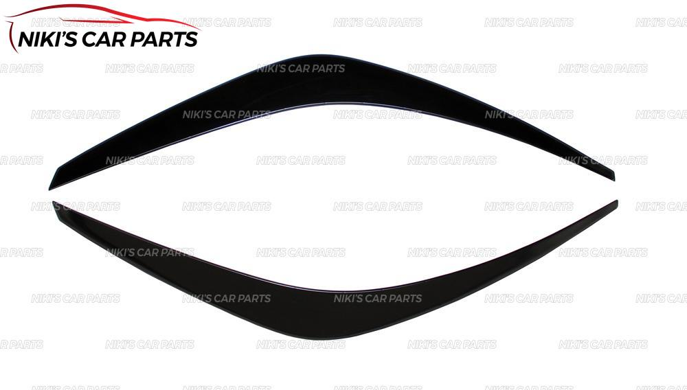 Image 4 - Eyebrows on headlights for  Hyundai Solaris 2017  model B broad ABS plastic cilia eyelash molding decoration car styling tuning-in Chromium Styling from Automobiles & Motorcycles
