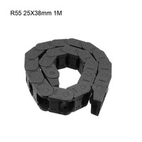 UXCELL R55 25x38mm 25x57mm 25x25mm Drag Chain Cable Carrier Open Type Transmission Chains 1m Length with End Connectors