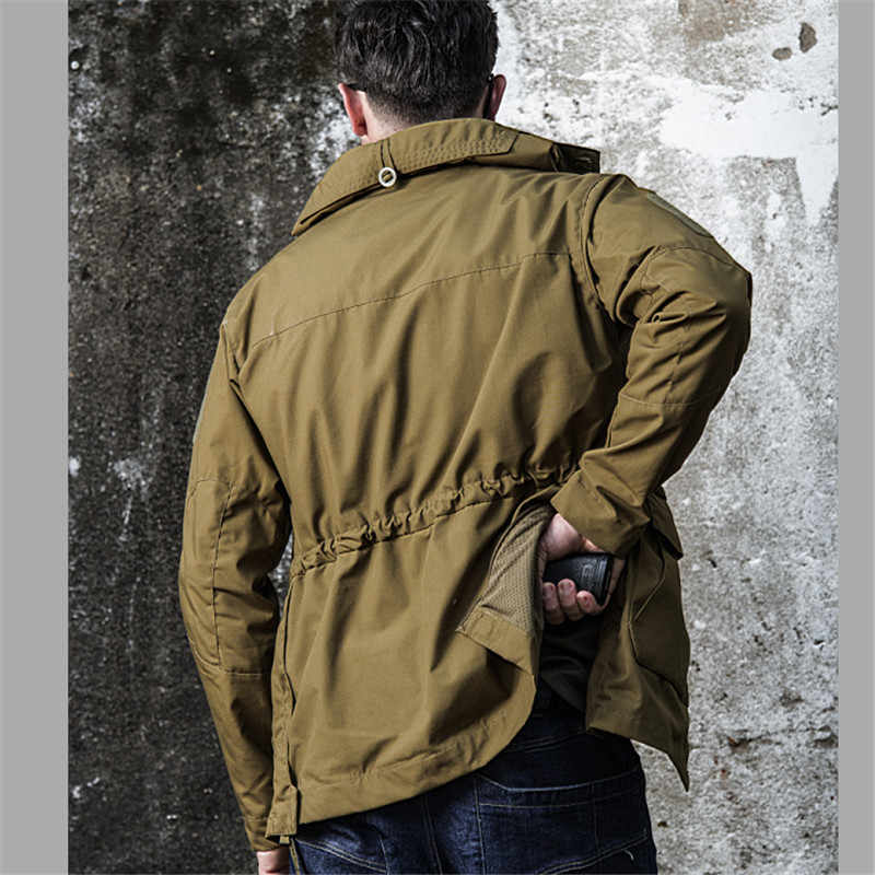 M65 المملكة المتحدة الولايات المتحدة ملابس الجيش عادية التكتيكية سترة واقية الرجال مقاوم للماء الطيران الطيار معطف هوديي سترة المجال العسكري