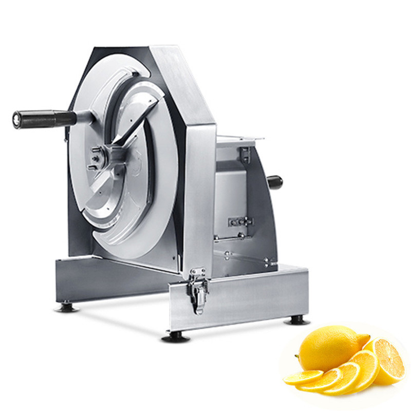 BEIJAMEI Commercial vegetable cutting machine stainless steel manual lemon, grapefruit, potato fruit and vegetable slicer popular manual fruit and vegetable slicer for lemon pineapple orange potato onion cucumber tomato slicing machine tool