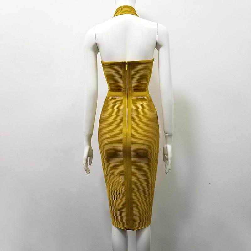 6ce8243f3df Aliexpress.com   Buy 3 Colors Sexy Rayon Bandage Dress V Neck Halter ...