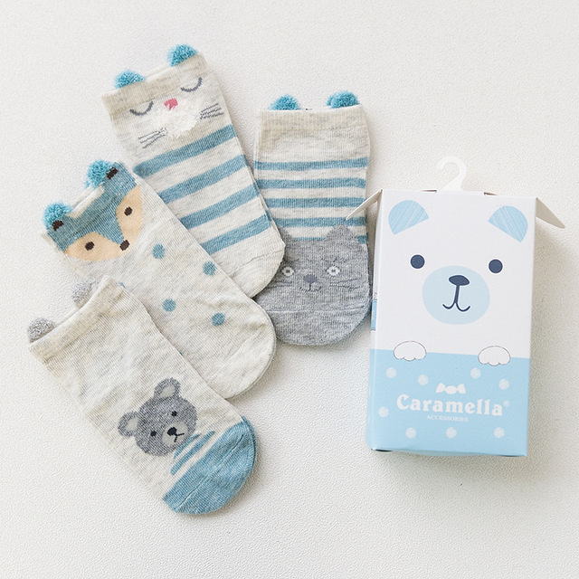 Комплект детских носков «Медведь», 4 пары
