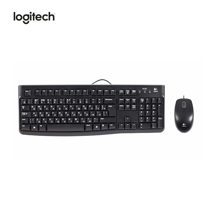 Computer keyboard+Mouse Logitech MK120 Officeacc mini i8 keyboard russian english hebrew spanish version i8 keyboard remote air mouse touchpad keyboard for android tv box pc