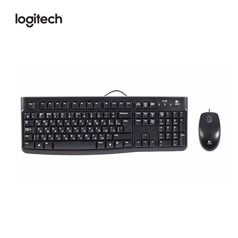 Купить со скидкой Комплект Клавиатура + Мышь Logitech MK120