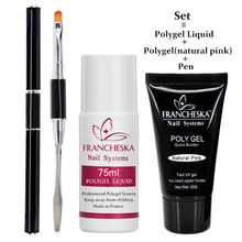 Poly conjunto gel polygel líquido primer escova do prego vernis semi permanente cor gel uv soak off unha polonês gelpolish poli gel(China)