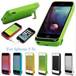 Para o iphone 5 caso da bateria 4200 mah capa de backup carga inteligente para o iphone 5 caso da bateria 5S se bateria banco ouro