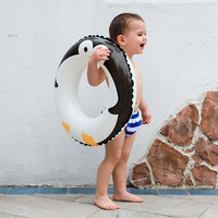 Cartoon baby accessories kids penguin float swimming ring durable children summer swim pool accessories circle floating