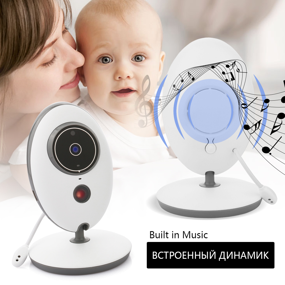 2.4'' LCD 2.4GHz Wireless Video Baby Monitor Security Baby Camera 2 Way Talk Night Vision IR LED Zoom Crying Temperature Monitor help your baby talk