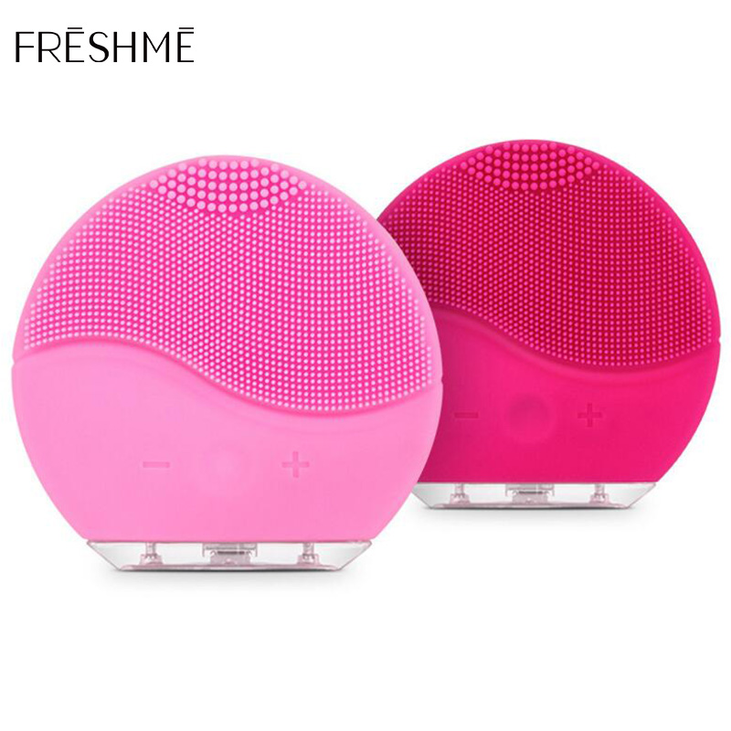 FRESHME Silicon Facial Cleansing Brush Instrument Rechargeable Battery Facial Face Skin Care Tools Waterproof Face Cleanser