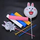 10Pcs 40Cm Aluminum Balloon Accessories Support Rods Large Balloon Cup Holders Plastic Balloon Rod support alu balloon