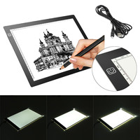 A3 19 LED Tracing Light Box Stencil Art Copy Painting Drawing Pad Table Stencil Artist With US Plug