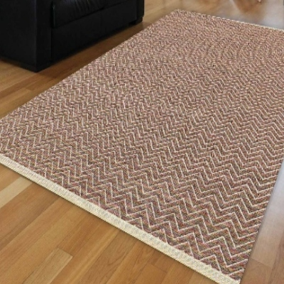 Autre blanc brun vague biais lignes géométriques modernes anti-dérapant Kilim lavable décoratif plaine peinture tissé tapis tapis