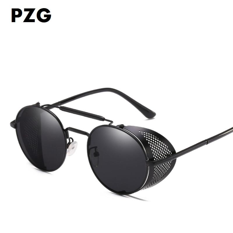 ff488ff71 PZG A nova moda Punk Eyewear decorar óculos de sol dos homens ...