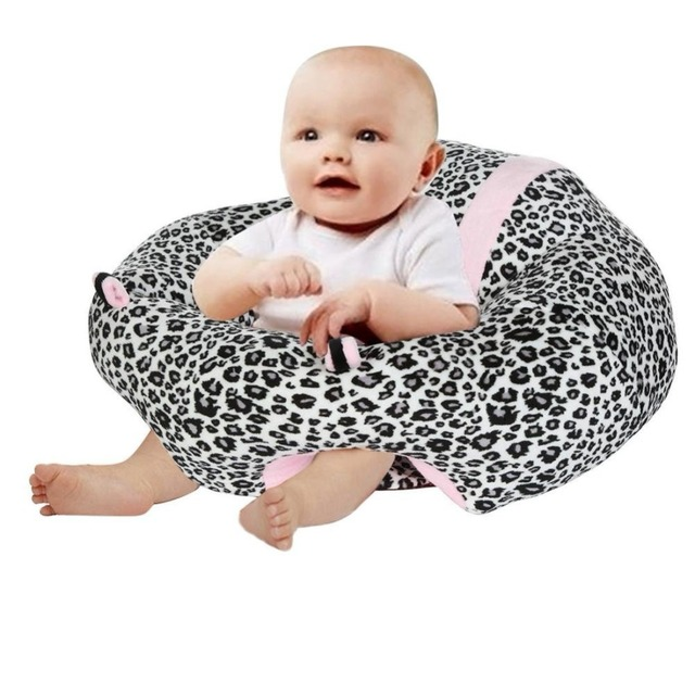 Infant Sitting Chair Snuggle Cute Cattle Shape Support Seat Soft Cotton Travel Car Pillow Cushion