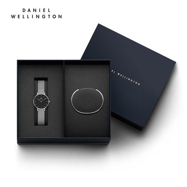 Женские наручные часы Daniel Wellington Classic Petite Sterling 28 мм + браслет Daniel Wellington Classic Bracelet размер S