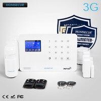 HOMSECUR Беспроводной LCD 3G SMS Автодозвон Система охранной сигнализации