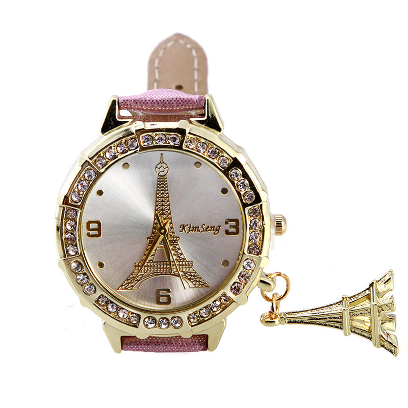 Paris Eiffel Tower Watch Women Quartz Wrist Watch Fashion Casual PU Leather Band Female Clock Ladies Watch Relogio Feminino cute cat watch women pu leather wrist watches vogue ladies casual analog quartz watch 2017 new fashion clock relogio feminino