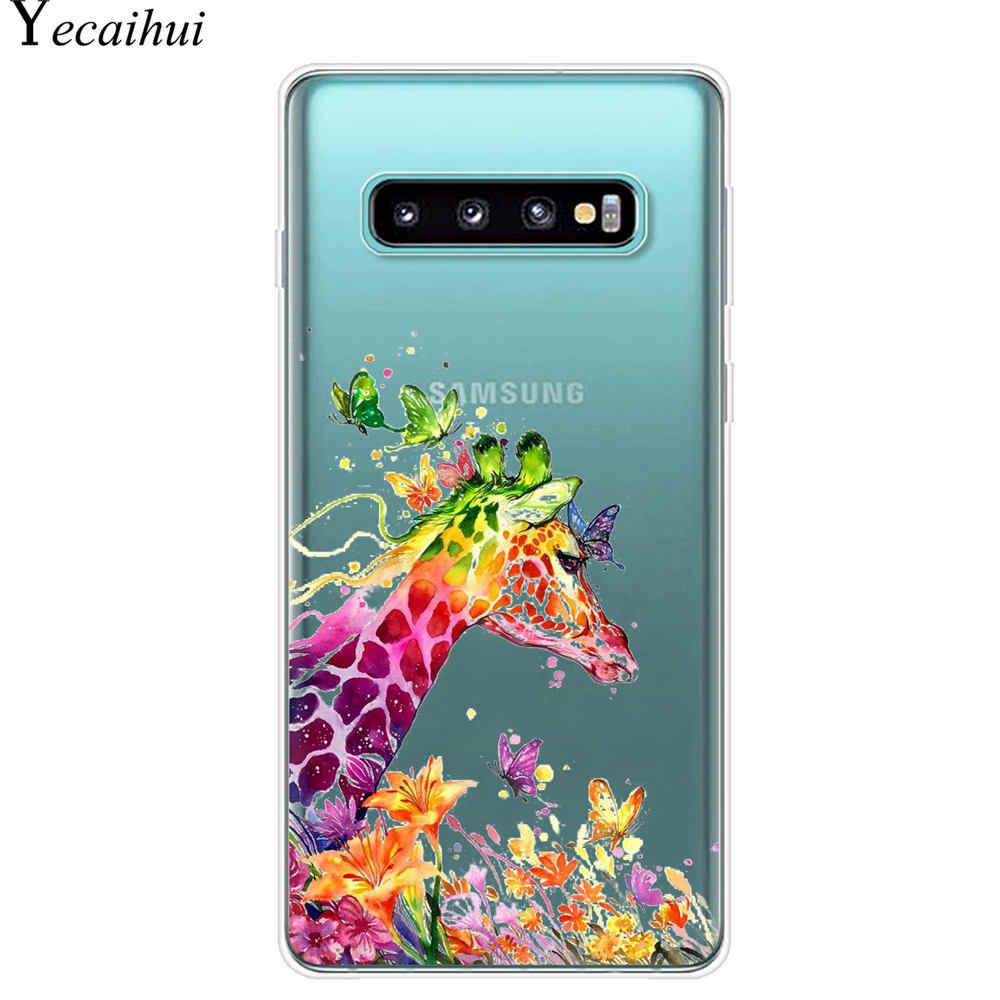Funda trasera para teléfono de silicona TPU suave con patrón de mariposa de dibujos animados para Samsung Galaxy S7 S6 Edge S8 S9 S10 Plus s10E 5G Cuque