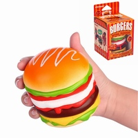 Hot Sale Vlampo For Squishy Burger Hamburger Slow Rising Original Box Packaging Bread Collection Toy Decor