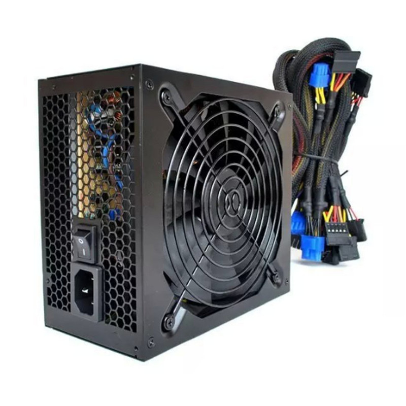 купить Miner Case 1600W Power Supply for 6 GPU ETH Rig Ethereum Coin Miner 24pin 6 SATA Interface ATX Mining Power Match UK/US/EU Plug недорого