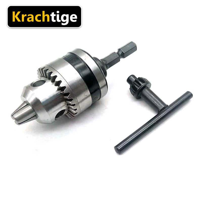 Krachtige 0.5mm - 6.5mm Electric Drill Chuck 1/4 Keyless Drill Bit Chuck Hex Shank Adapter Converter Quick Change