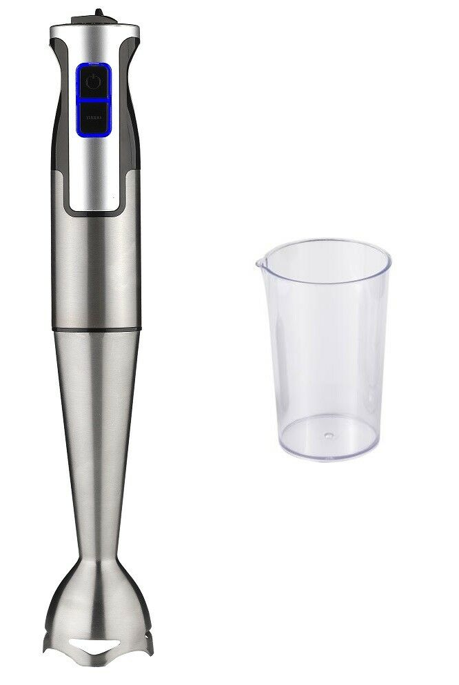 HAND BLENDER 1000W BLADES Stainless Steel ARM METAL CUP INCLUDED