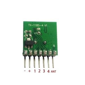 Image 3 - 5 pieces 433 Mhz Superheterodyne RF wireless transmitter module 1527 Encoding EV1527 Code wide voltage 3V 24V For Remote control